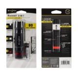 Светодиодный мини фонарик 3-в-1 Radiant, Black