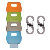 Набор крышек для ключей Nite Ize Identikey 4 шт. + карабин 2 шт.
