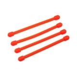"""Набор хомутов прорезиненных многоразовых Nite Ize Gear Tie Reusable Rubber Twist Tie 3"""" 4 шт. Bright Orange"""