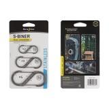 Карабин из нержавеющей стали S-Biner Stainless 3 шт. в упаковке