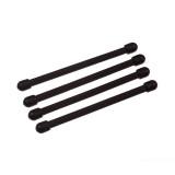 """Набор хомутов прорезиненных многоразовых Nite Ize Gear Tie Reusable Rubber Twist Tie 3"""" 4 шт. Black"""