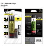 Светодиодный мини фонарик 3-в-1 Radiant, Lime