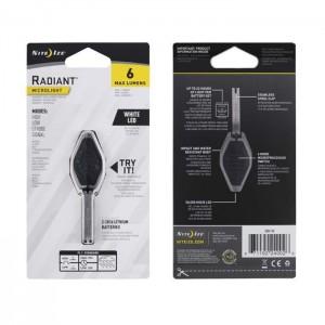 Микро фонарик Radiant, Black/White LED
