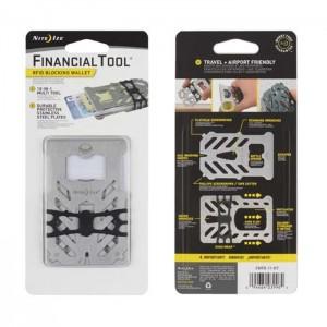 Портмоне-мультиинструмент Financial Tool Rfid Bblocking Wallet, Stainless
