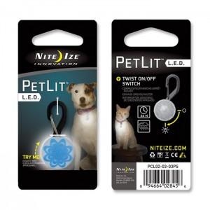 Светодиодный брелок на ошейник PetLit, Blue